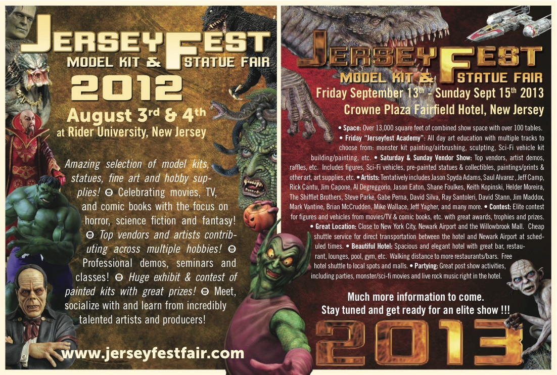 Jerseyfest Model Kit & Statue Fair - August 2012 - Classic Horror